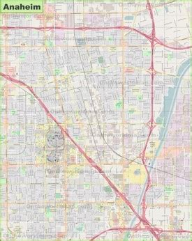 anaheim usa map large detailed map of anaheim