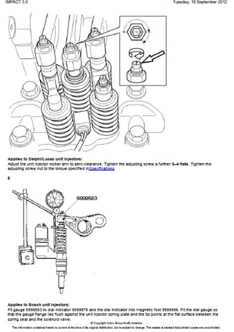 volvo nh valves  unit injectors adjust auto repair manual forum heavy equipment forums