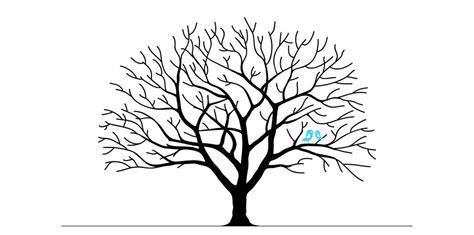 Kostenlose Vorlage Baum Hochzeitsbaum Auf Leinwand Selbst Gestalten