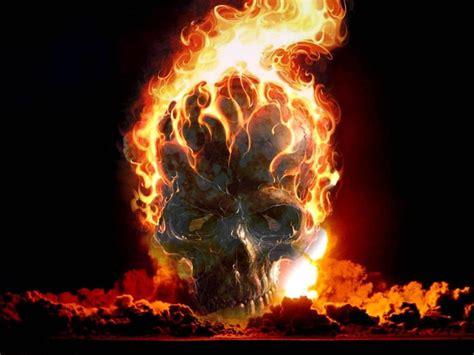 imagenes de calaveras en llamas 3d fondo pantalla calavera en llamas