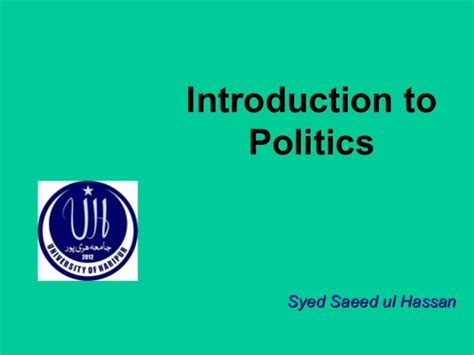 introduction to politics introduction to politics