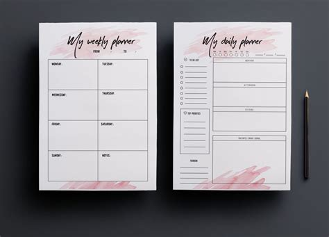 day planner template indesign 33 best creative planner 365 images on pinterest life