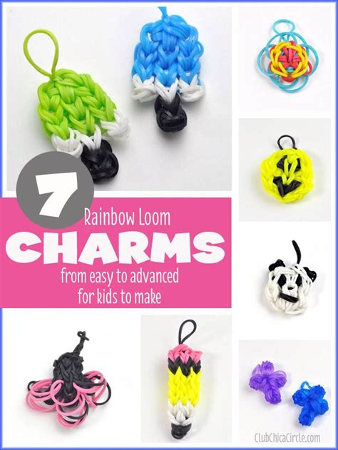 printable bandaloom instructions 7 fun rainbow loom charms from easy to advance for kids to