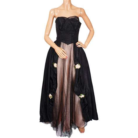 new york dress prom dresses evening dresses and vintage 1950s black tulle gown by harry keiser new york