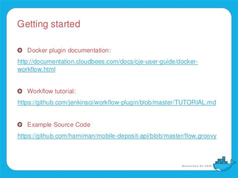 docker workflow tutorial build publish deploy and test docker images and