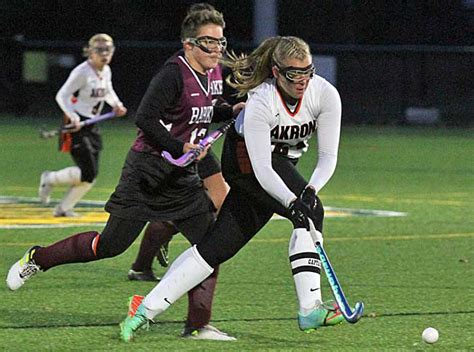 section 6 field hockey akron tips rival barker for class c title orleans hub