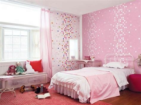 cool wallpaper room bloombety cool pink dotty wallpaper or girls room
