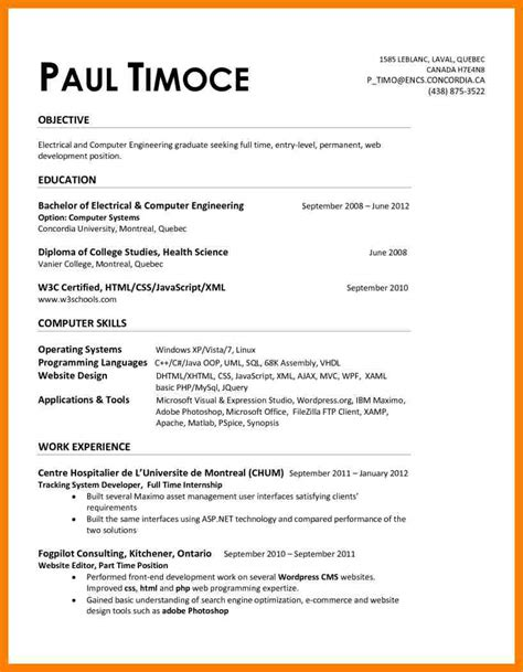 Resume Exles Engineering Entry Level 7 Entry Level Electrical Engineering Resume Lpn Resume