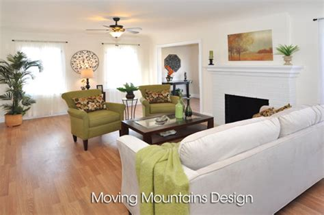 home staging design tips altadena home staging living room moving mountains