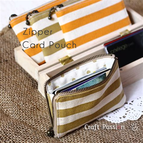 Zippered Card Pouch Pattern | card holder sewing tutorial