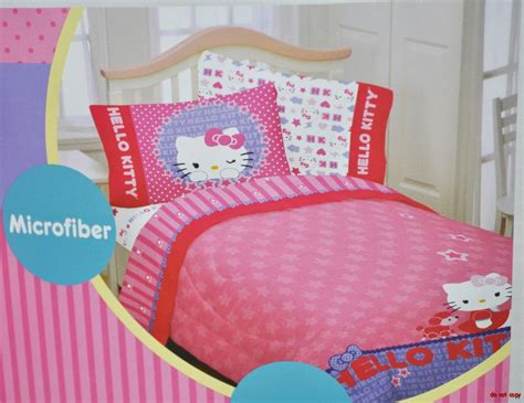 hello kitty curtains and bedding new girls hello kitty bedding single bed padded duvet