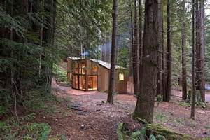 Bathroom Mirror Frame Ideas redwood forest cabin offers beautiful solitude immersion