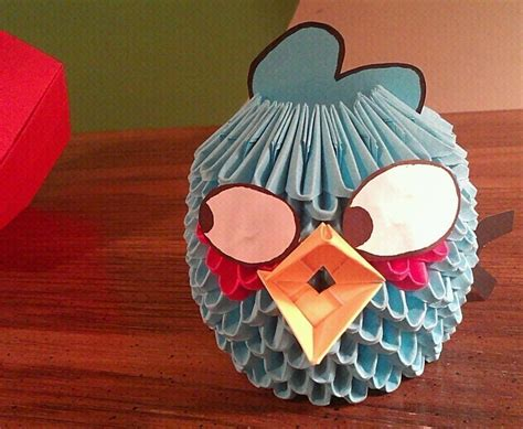Origami Paper Edmonton - blue angry bird paper craft 183 an origami bird 183 papercraft