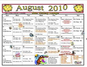 Assisted Living Activity Calendar Template by Retirement Care Journal July 2010