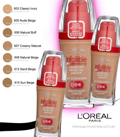 L Oreal Infallible Foundation Indonesia loreal infallible makeup liquid foundation 612 sand beige