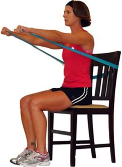 Chair Exercises With Bands by Best 25 Chair Exercises Ideas On