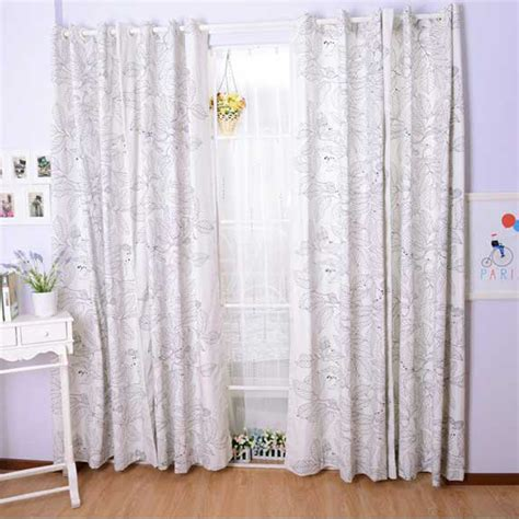 cotton curtains white cotton curtains with leaves patterns can decorate