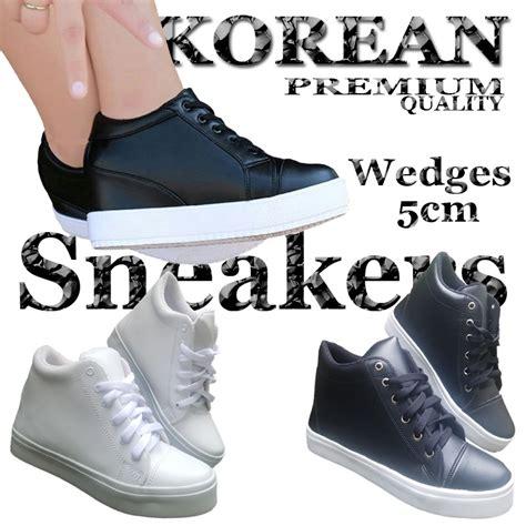 Sneaker Tinggi sneakers wanita hak tinggi 5cm sepatu sneaker cewek