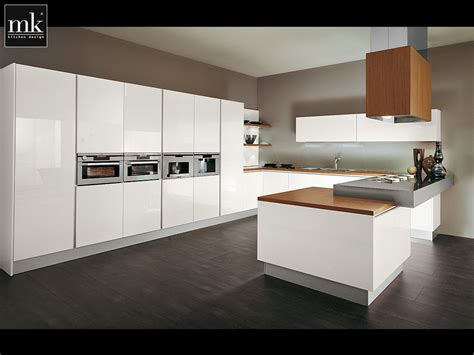 modern kitchen photo painting wood furniture white decosee