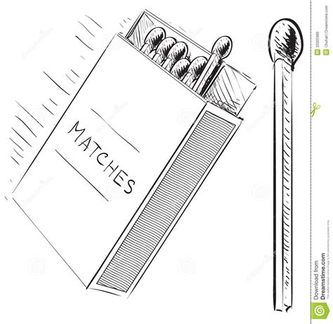 doodle matches matches and box sketch doodle icon royalty free stock