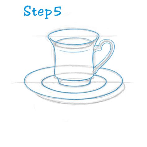 Teacup Outline Drawings by How To Draw A Tea Cup Beginning Sketch2draw