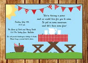 picnic invitation templates cloudinvitation com