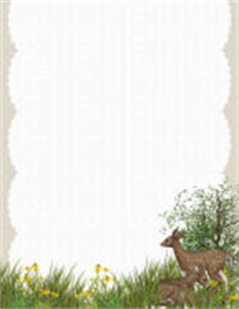 printable nature stationery animals and critters 4 free stationery com template downloads