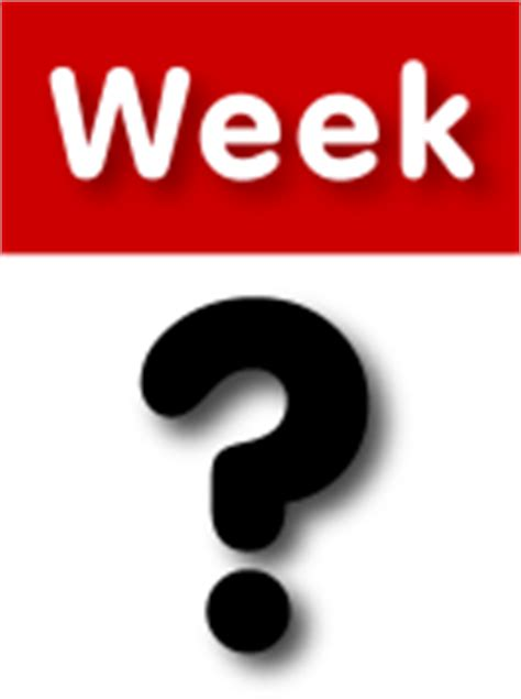 Current Calendar Week Current Week Number