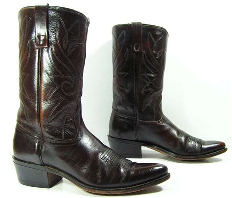 acme boots for womens 10 m b vintage acme cowboy boots by vintagecowboyboots