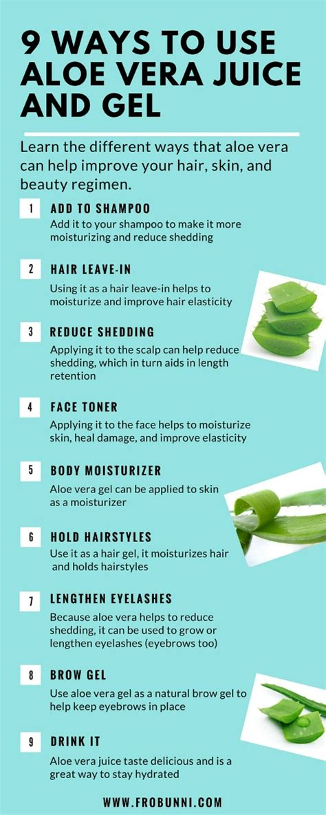 9 Ways To Get Through Days by Frobunni 9 Ways To Use Aloe Vera Juice And Gel