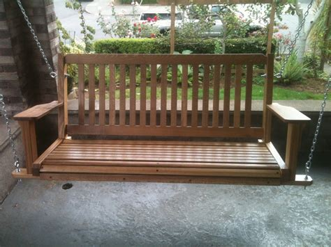 mission porch swing mission style porch swing by rainymountcraftsman