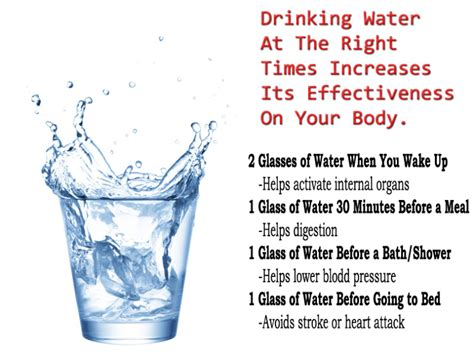 best times to drink water for maximum effect on your