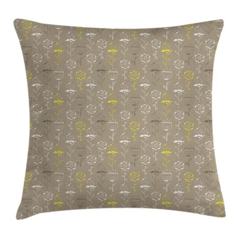 grey pillow cases grey and yellow throw pillow cases cushion covers home