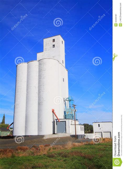 tall grain elevator royalty  stock photography