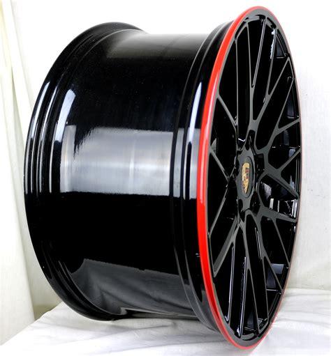 Wheels Porsche Gt Hitam Black 22 quot 991 turbo wheels gloss black stripe 1799 set photos rennlist porsche