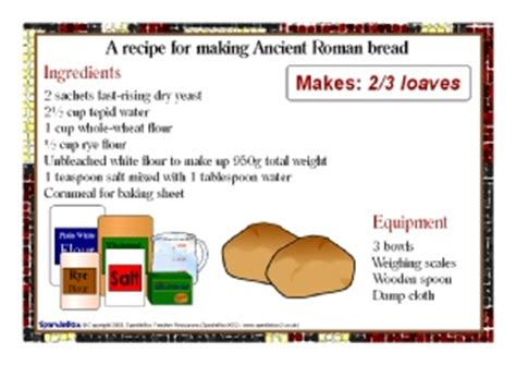 printable bread recipes easy roman bread recipes food tech recipes