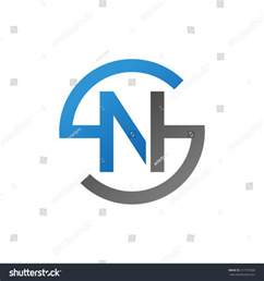 ns sn initial company circle s stock vector 317757968