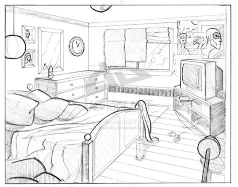 homework one point perspective room drawing perspective favorite room in your house or bedroom