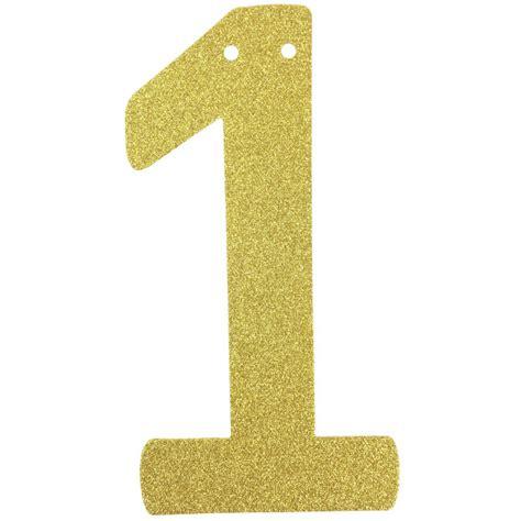 Cape Brukat Glitter Gold 1 glitter number garland gold one 1