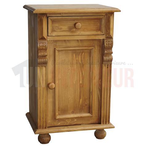 table de nuit en pin table de nuit en pin massif chevet 1 tiroir 1 porte