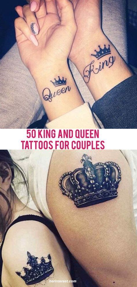 king and queen tattoo umeå 50 king and queen tattoos for couples tatooo pinterest