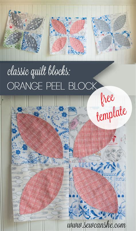 Orange Peel Quilt Block Pattern by Classic Blocks Fresh Fabric For February Orange Peel