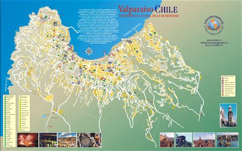 valparaiso tourist map c mappery