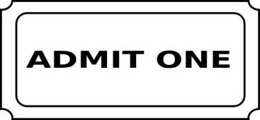 blank admit one ticket template admit one ticket template free clipart best