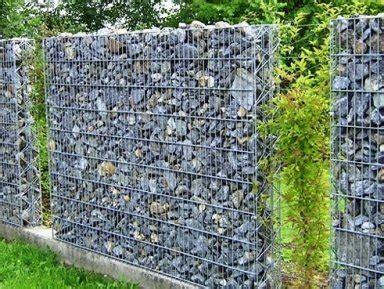 gartenzaun metall mit steinen gefüllt sichtschutzzaun sichtschutz f 252 r den garten raum zofingen