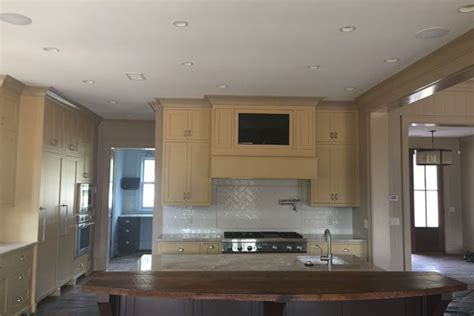 kitchen cabinet audio video advanced integrated controls