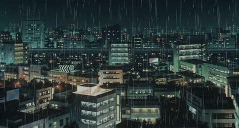 anime gif rain city rain gif tumblr