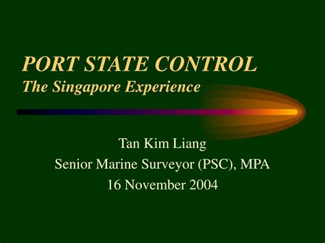 port state ppt port state the singapore experience