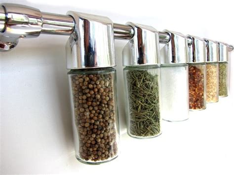Chrome Spice Rack totemspice chrome spice rack hanging modern spice rack