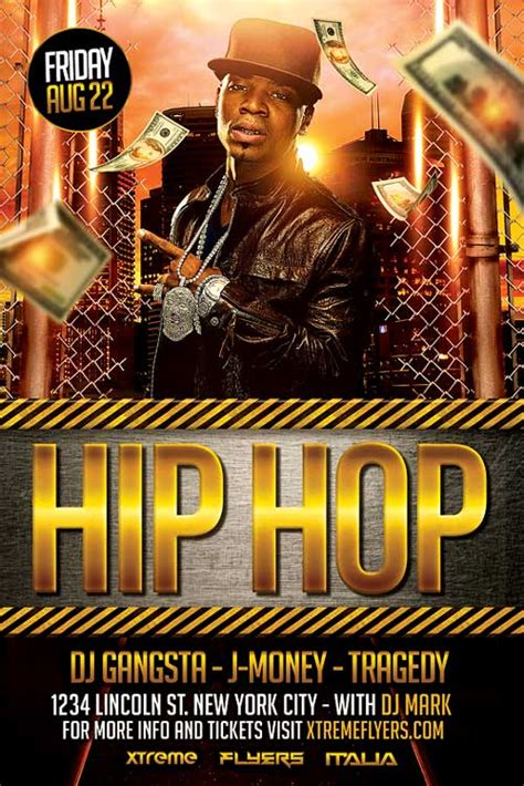 Free Hip Hop Flyer Templates Psd hip hop flyer template psd best flyer templates